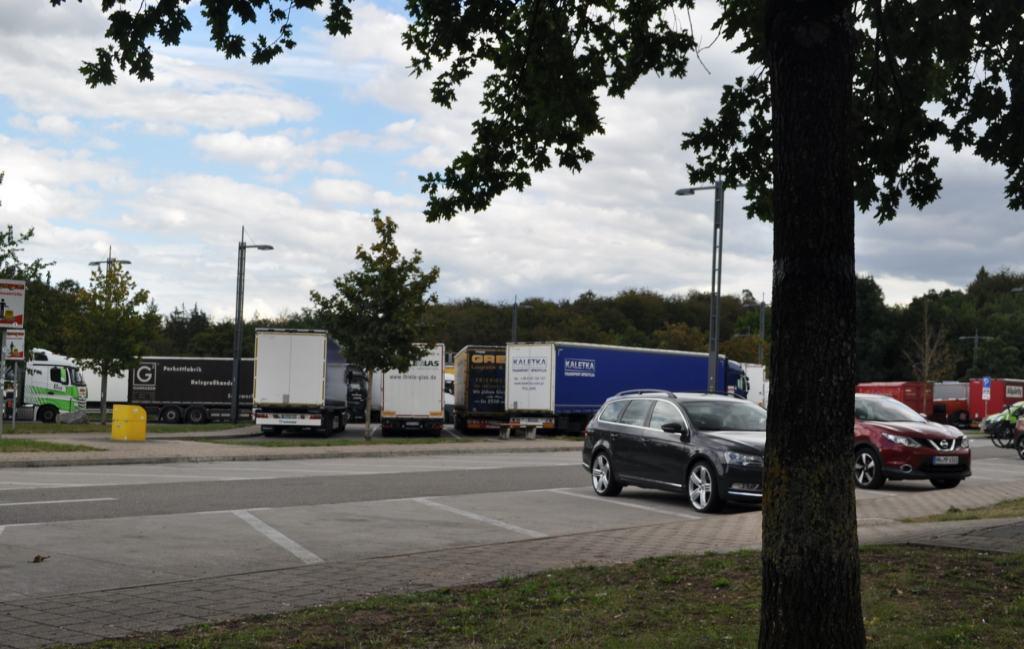 A photo of a parking lot near Stuttgart