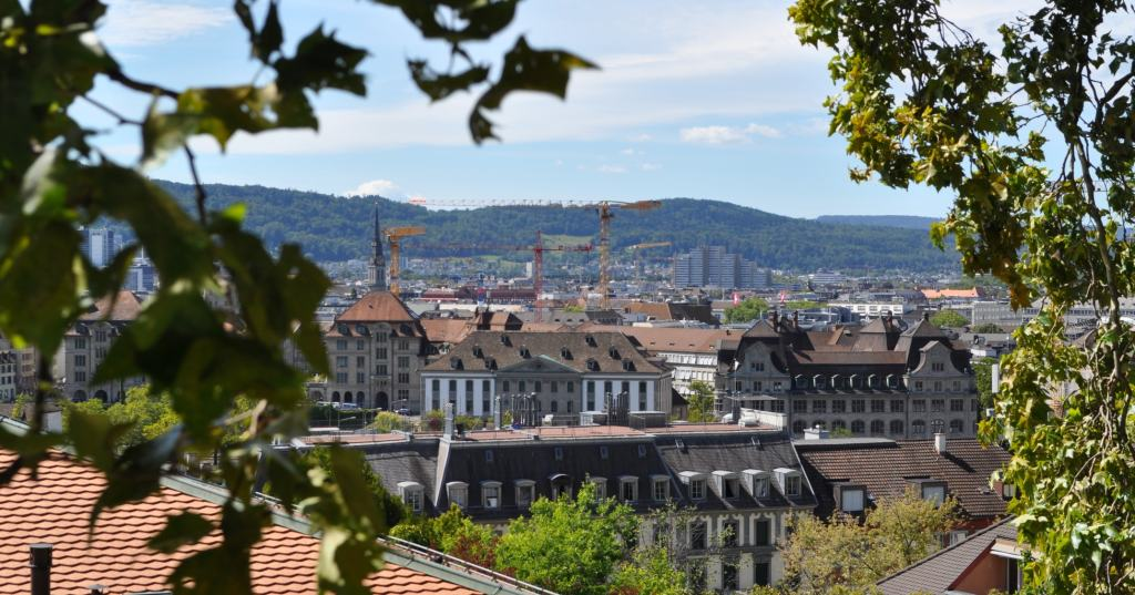 The panorama of Zurich